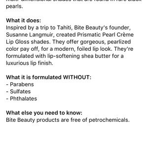 Bite beauty Makeup - 🦋 Bite Beauty lip gloss in Gold